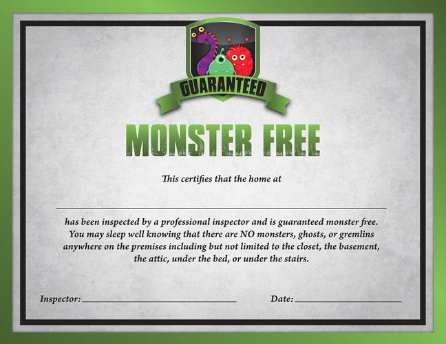 Monster Free Certification